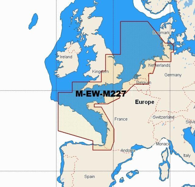 C-MAP W89 NT Max M-ew-m227 Wide Area Chart C-card North West ...