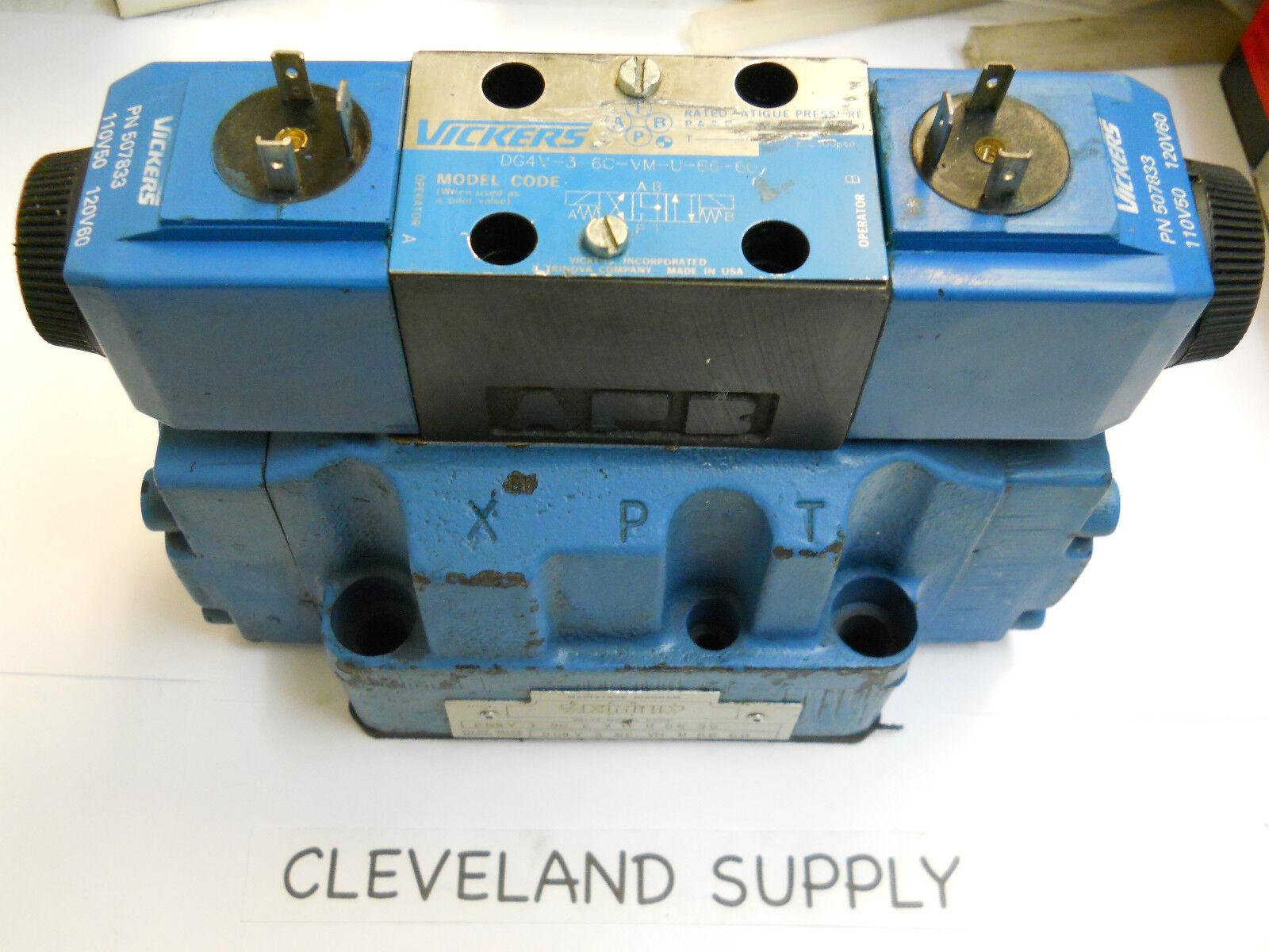 Vickers Dg5v 7 8c E V M U B6 30 Hydraulic Solenoid Valve Assembly   eBay