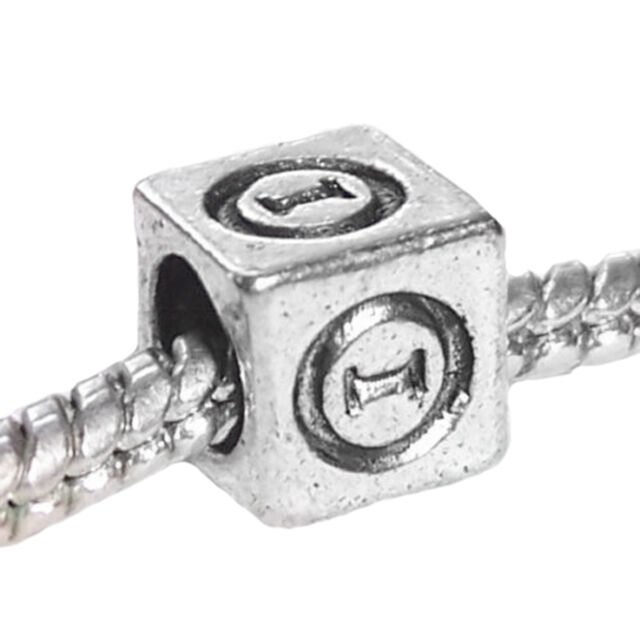 Theta Symbol Uppercase Greek Letter Numeral Cube Charm For Euro Bead