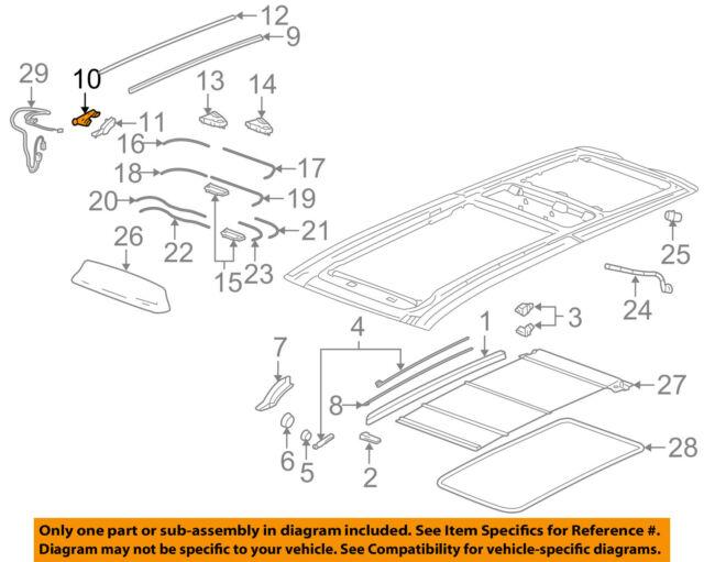 cadillac gm oem 04 09 srx sunroof rear guide right 25747592 ebay rh ebay com