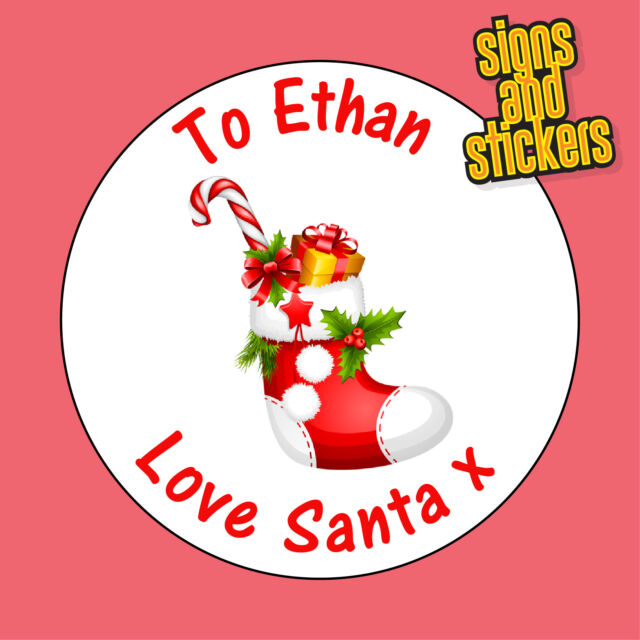Personalised Xmas Stickers