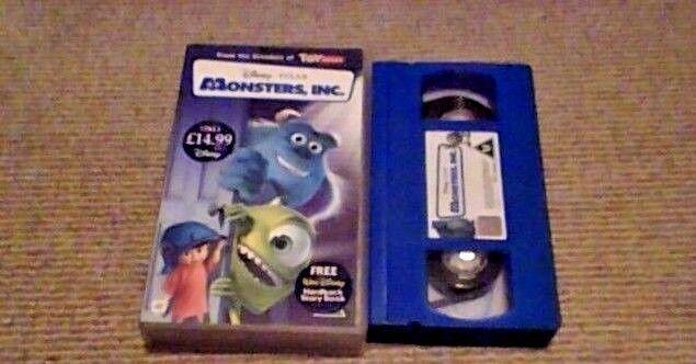Monsters, Inc. UK PAL VHS VIDEO 2002 John Goodman Billy Crystal James Coburn