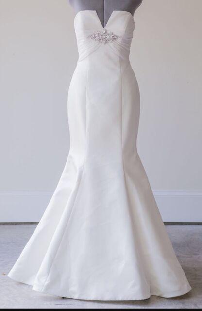 Priscilla Of Boston Vineyard Collection Wedding Dress 8 Trumpet V 2350 Retail
