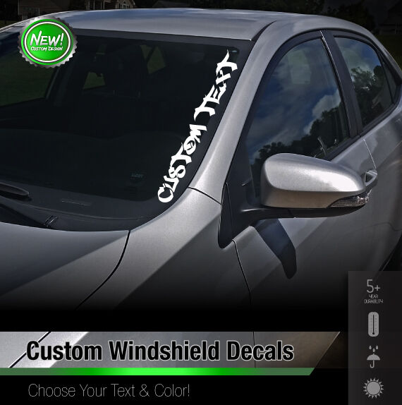 Custom Text Windshield Banner Car Sticker Vinyl Honda Acura JDM - Car windshield decals custom