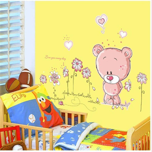 Removable Bear Vinyl Decor Art Mural Wall Stickers Decal Kids Baby ...
