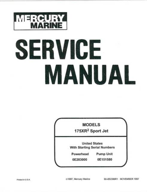 mercury 175 175xr sportjet sport tracker jet boat drive sea ray rh ebay co uk Manual ES De Mecanica Texto Instructivo