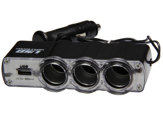 3 Fach 12V Steckdose & 5V USB Anschluss Zigarettenanzünder Anzünder Lighter Car