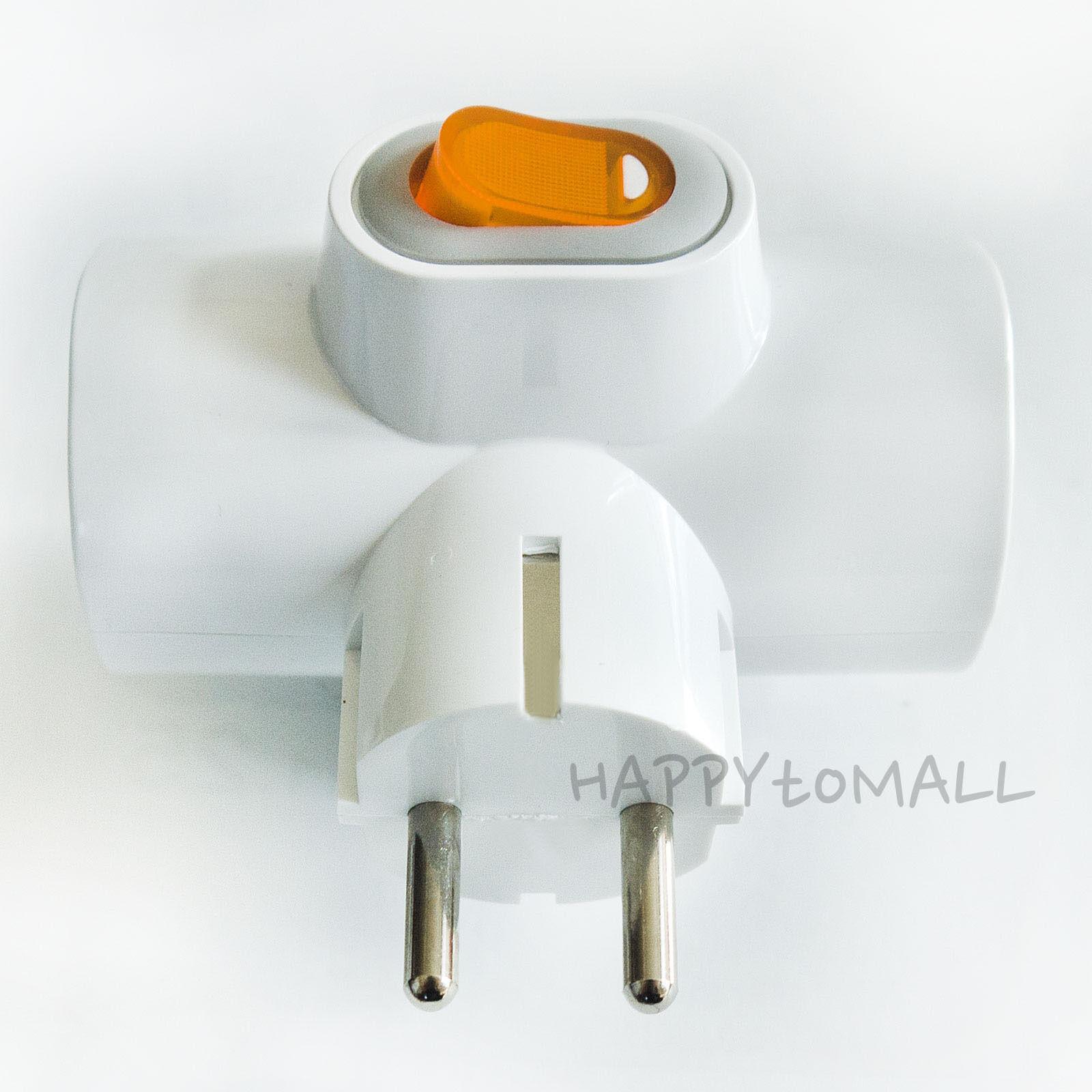 220v Multiple Power Outlet Strip Switch 3tap Electric Plug Socket ...