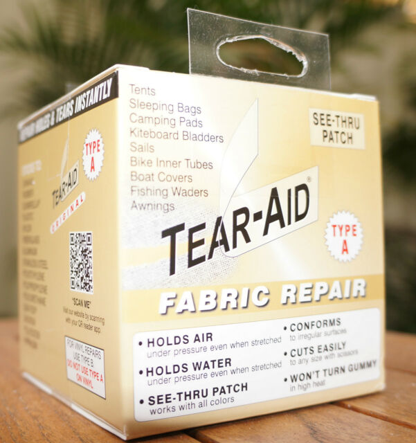 TEAR AID TYPE A - REPAIR ROLL PATCH CANVAS NYLON FABRIC SAIL & Tear Aid Type a 5ft - BULK Roll Canvas Tent Swag Camper Annex ...