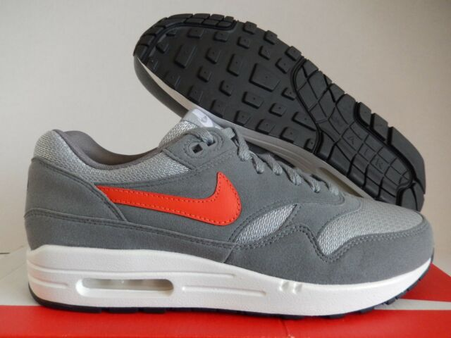 NIKE AIR MAX 1 ID DARK GREY-GREY-RED SZ 8 MESH TOE! [943756-993]
