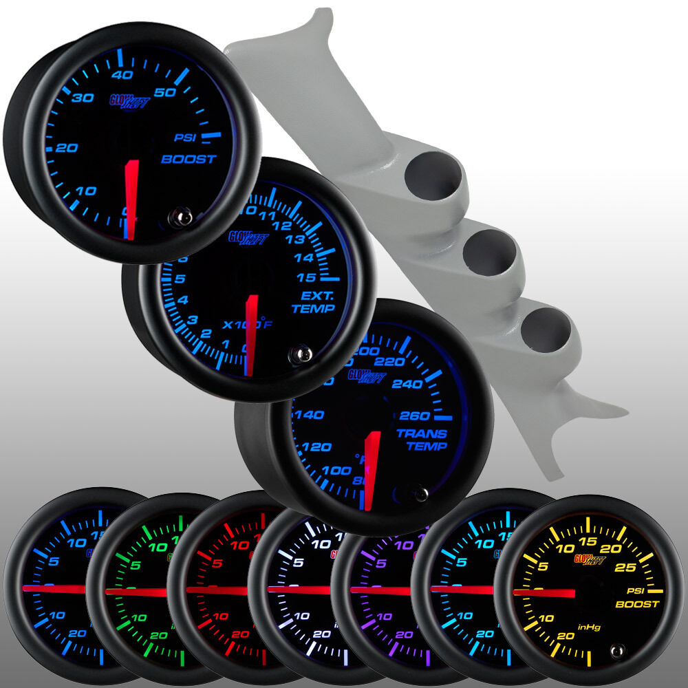 s l1600 gray 99 07 ford f250 triple pillar pod glowshift black diesel glowshift boost gauge wiring diagram at metegol.co