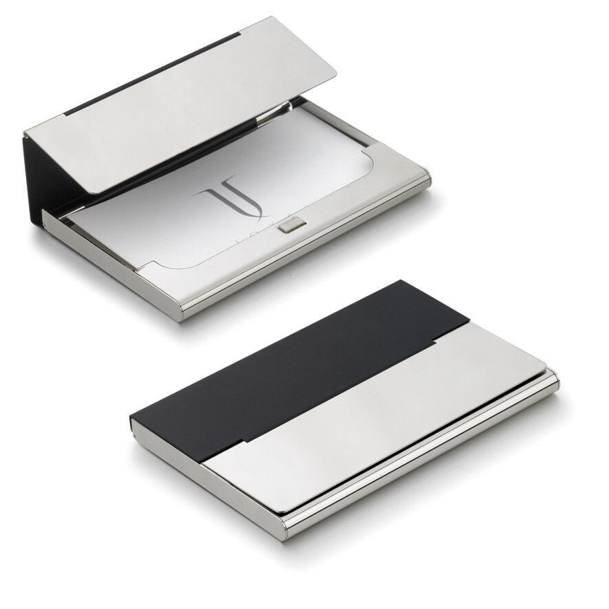 Visol v906b malta black matte silver plated business card case ebay picture 1 of 1 colourmoves