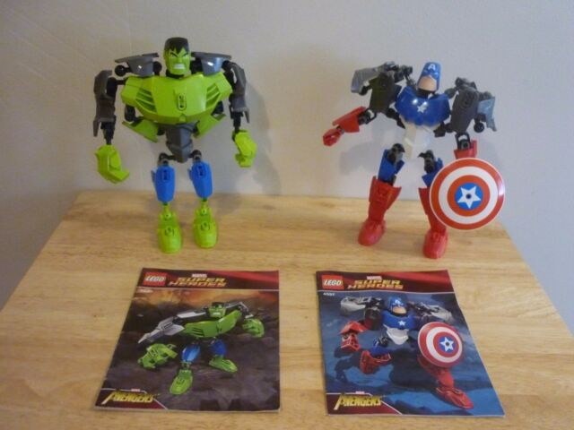 Lego Super Heroes 4530 The Hulk & 4597 Captain America. Avengers ...