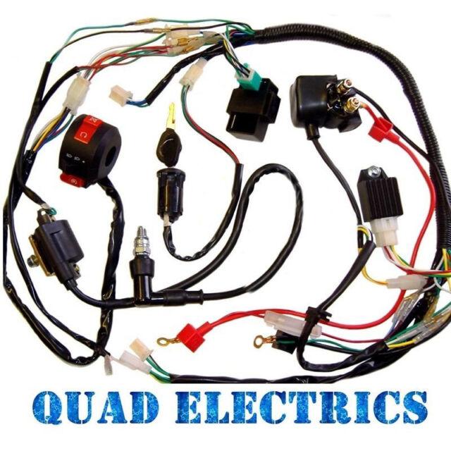full electrics wiring harness cdi coil 50cc 70 110cc atv quad bike rh ebay com panther 110 atv 2006 wiring harness 110cc atv wiring harness diagram