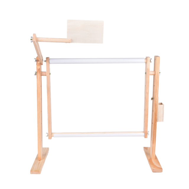 needlework stand lap table wood embroidery hoop frame cross stitch sewing tool e - Embroidery Frame