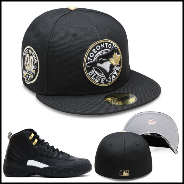 56f2f6f96c934c ... release date new era toronto blue jays fitted hat black circled gold  for jordan 4 royalty