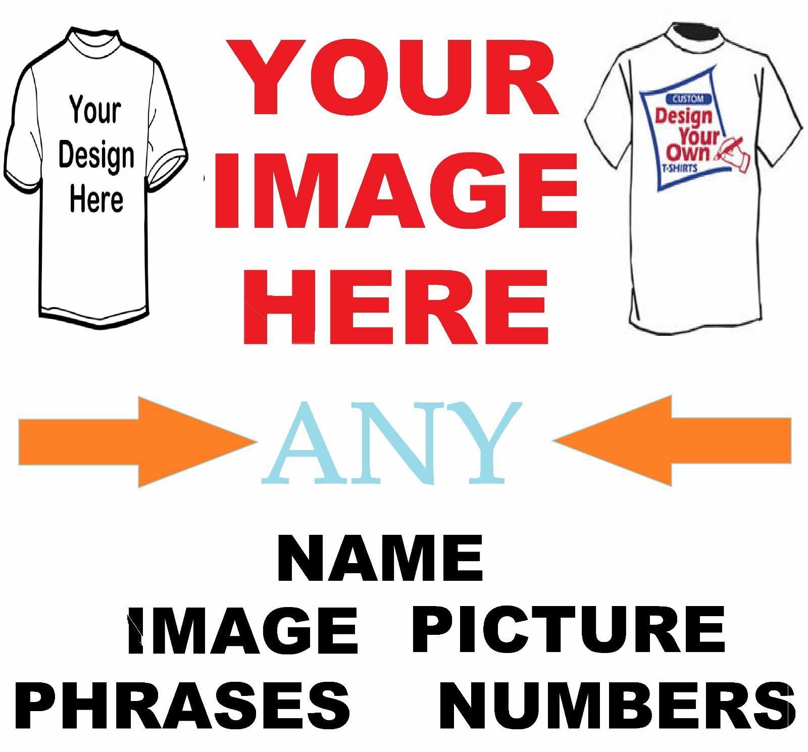 Create Your Own Custom T Shirt Iron on Transfer Any Picture Design ...