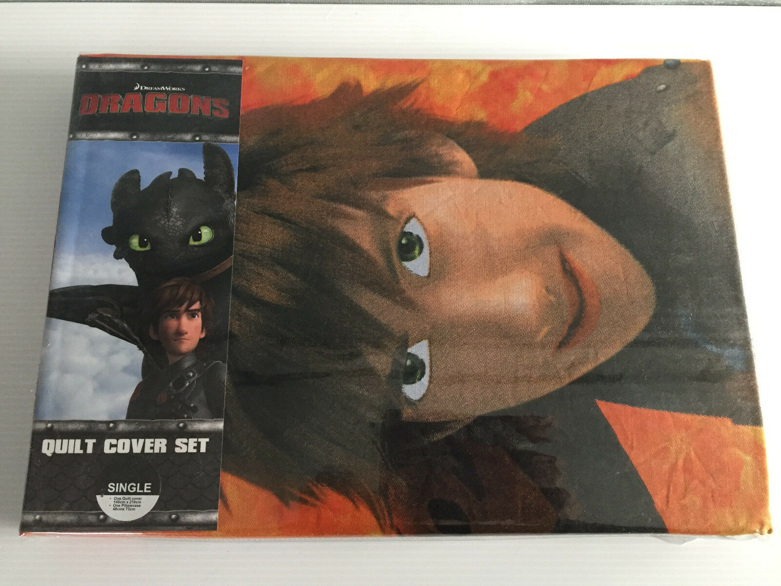 Dreamworks how to train your dragon chau single twin bed quilt brand new lowest price ccuart