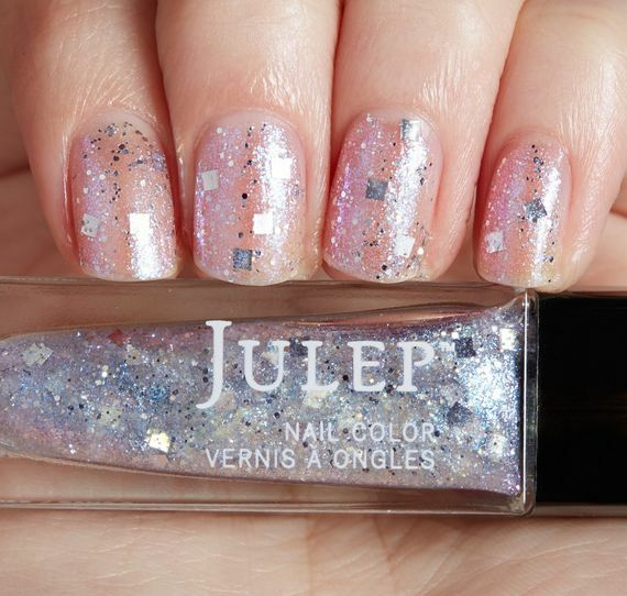 Julep Layla Nail Color Treat It Girl Iridescent Silver Square ...