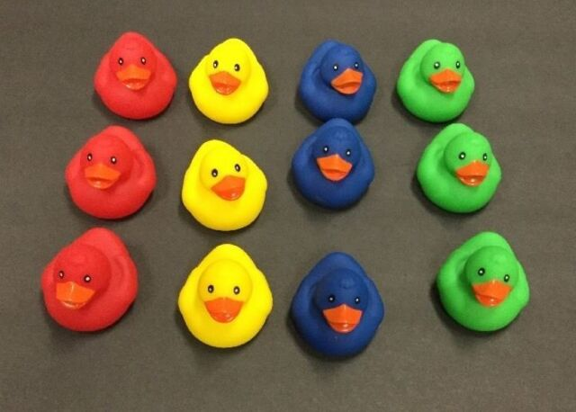 12 Pcs Carnival Birthday Party Pick a Duck Game Plastic Weighted ...