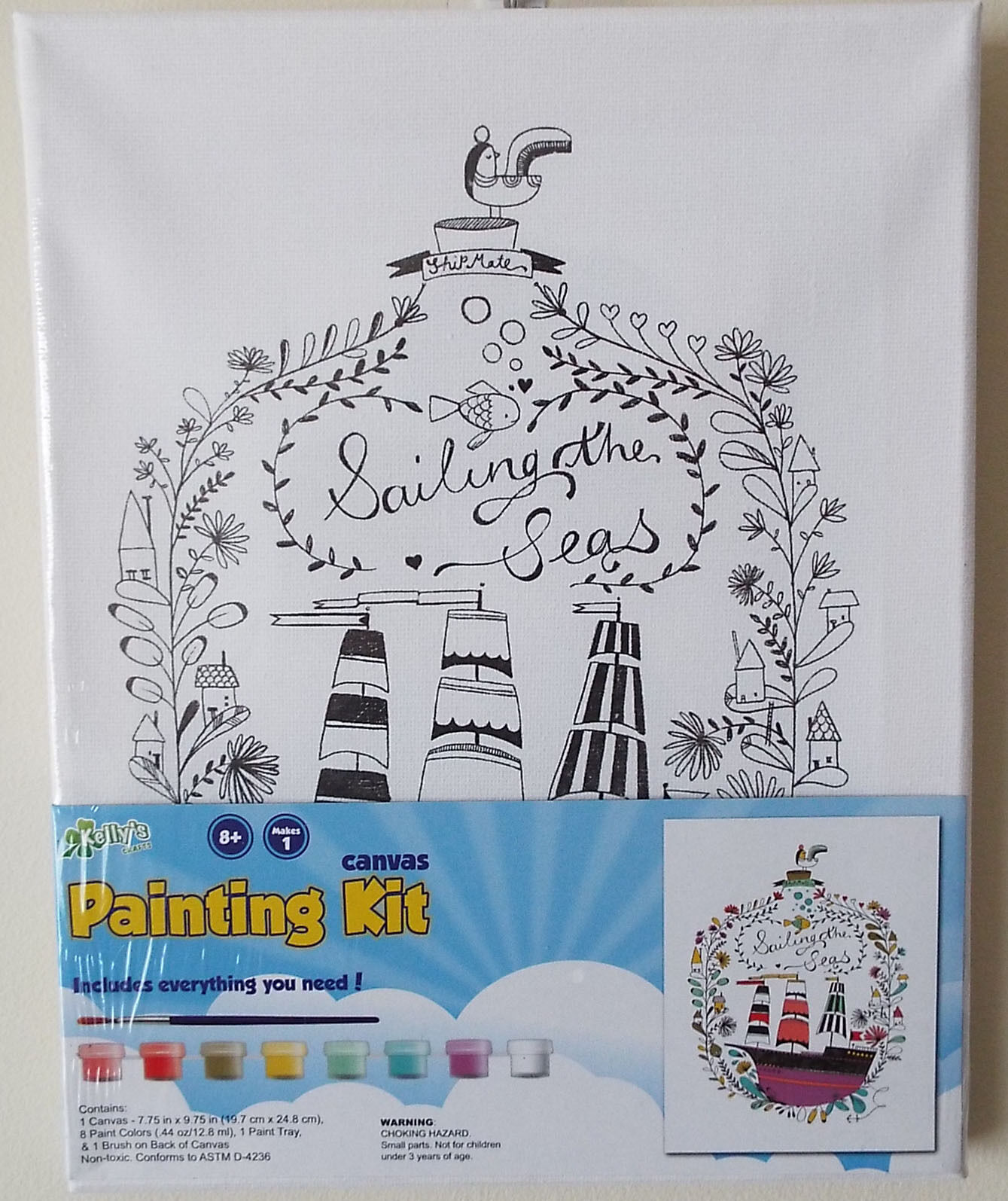 Crafts Canvas Painting Kit - Sailing The Seas Nautical Artist Gift ...