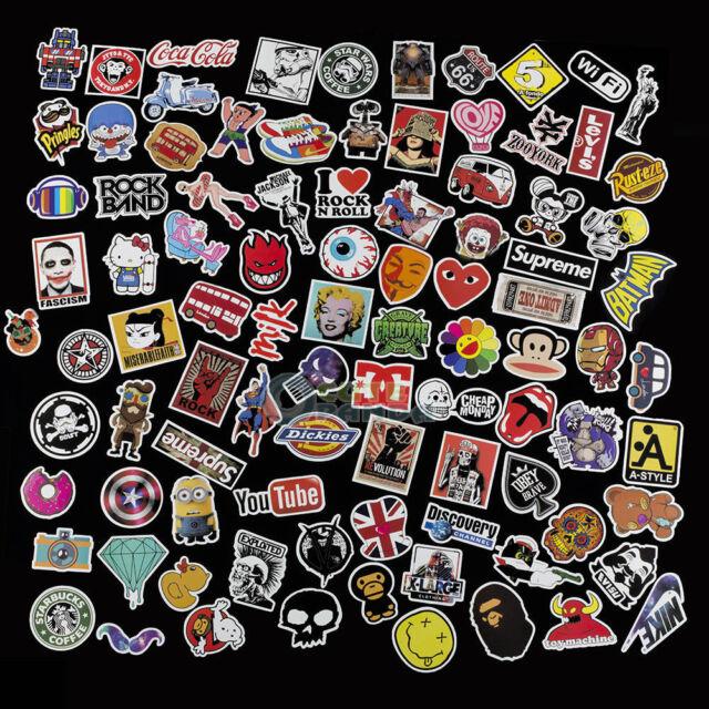 300pcs lot random car decals stickers skateboard sticker graffiti laptop luggage