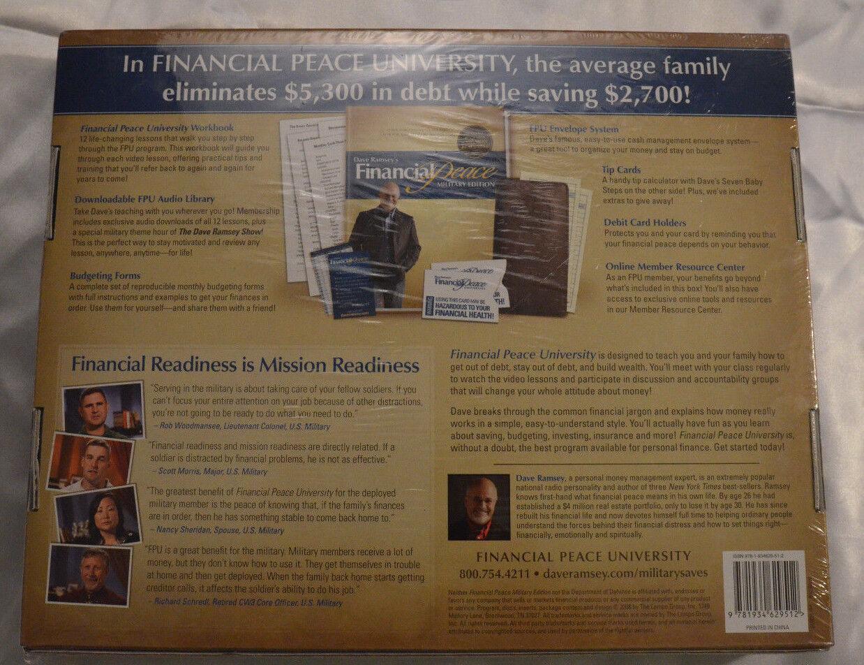 Dave ramseys financial peace military edition membership kit 2008 resntentobalflowflowcomponentncel solutioingenieria Images