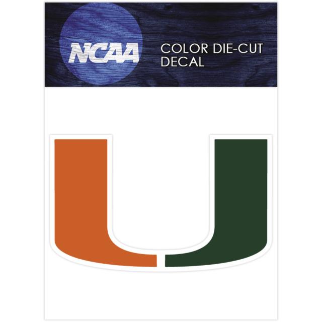 Miami hurricanes logo ncaa die cut vinyl car sticker bumper window