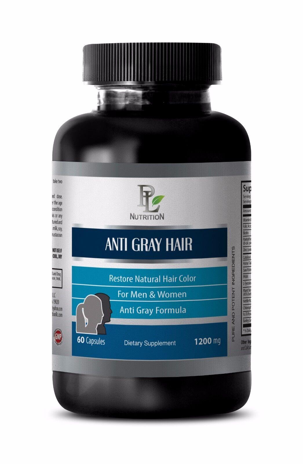 Horsetail Supplement Anti Gray Hair Care Restoring Natural Hair