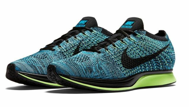 Nike UK Store  Nike Flyknit Racer Running Shoes Training New Men's Size 10 Blue Lagoon Ds Look
