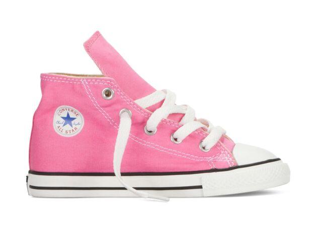 b99ca463ea28 Converse Ct Hi Pink Unisex Kids Canvas Trainers UK 4 Infant - EU 20 ...