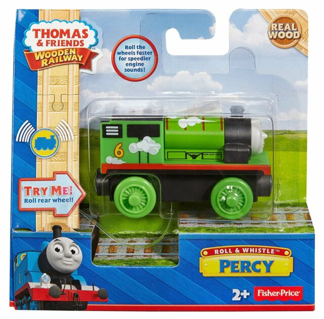 Percy Train ~ Roll and Whistle with Sounds & Light BDG13 Thomas wooden track
