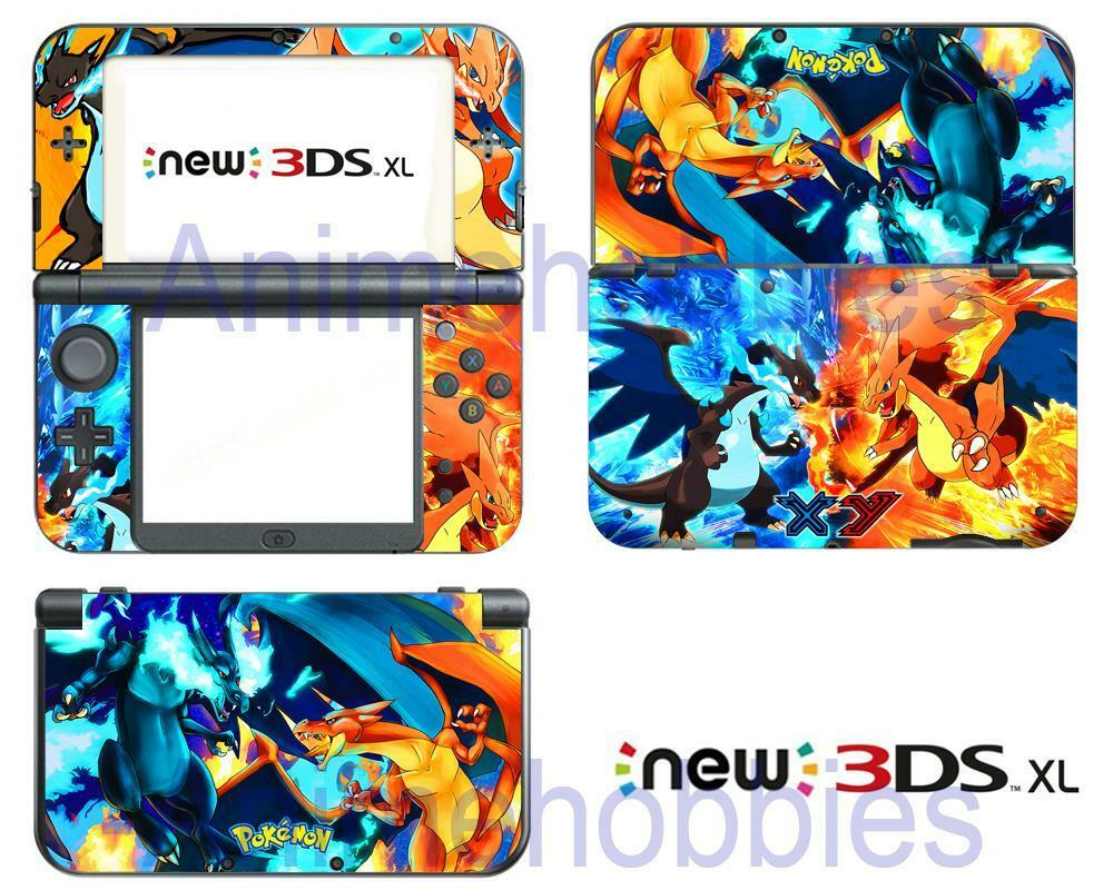 pokemon charizard xy vinyl skin decals stickers for nintendo 3ds