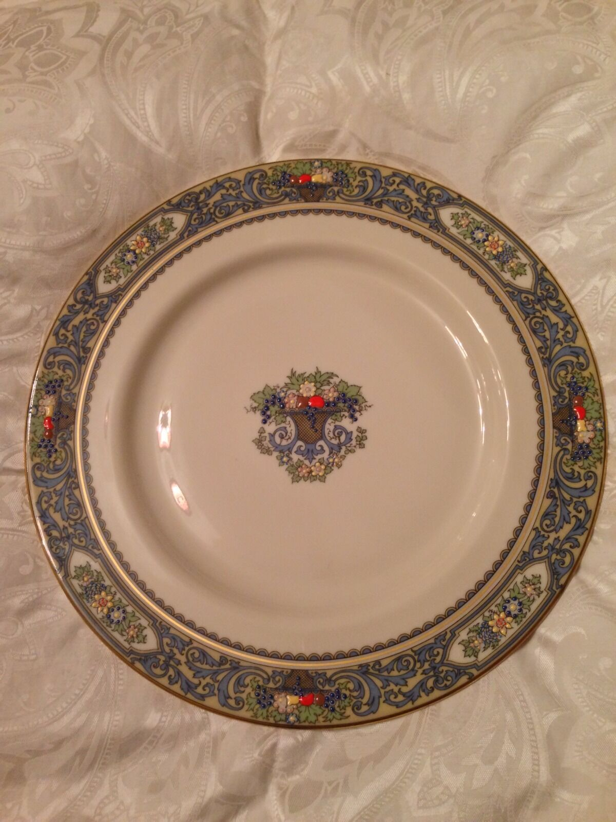 Picture 1 of 5 ... & Lenox Autumn Gold Back Stamp Dinner Plate | eBay