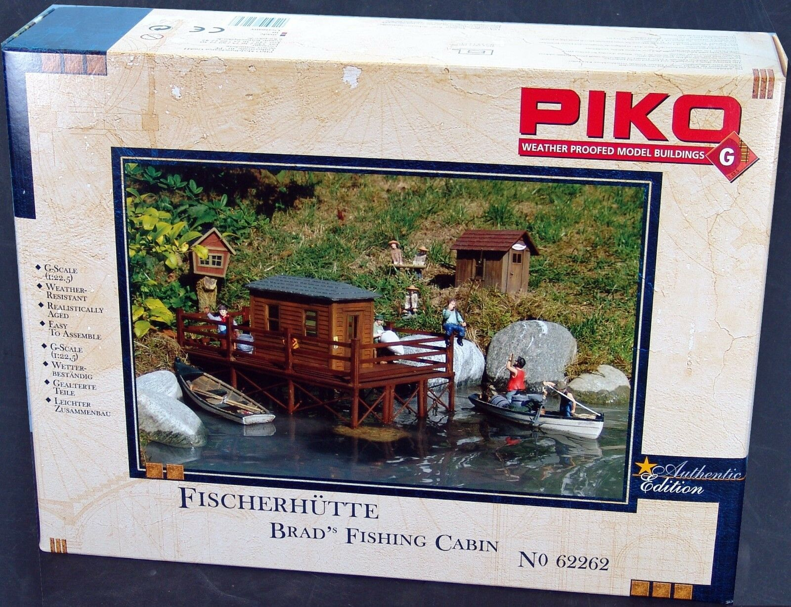 Piko Brad S Fishing Cabin G Scale Building Kit 62262 Ebay # Model Table Tele