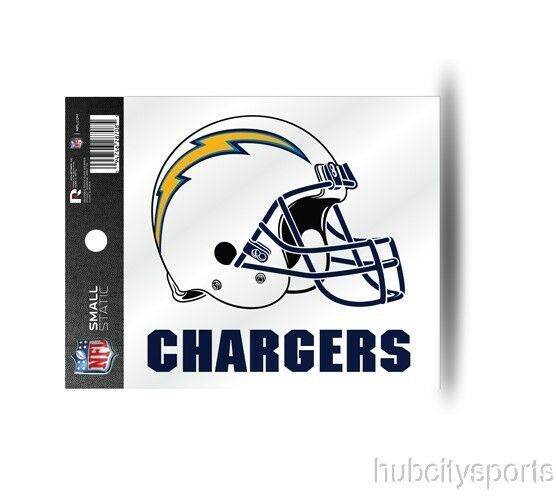 San Diego Chargers Helmet Static Cling Sticker Window or Car NFL ...