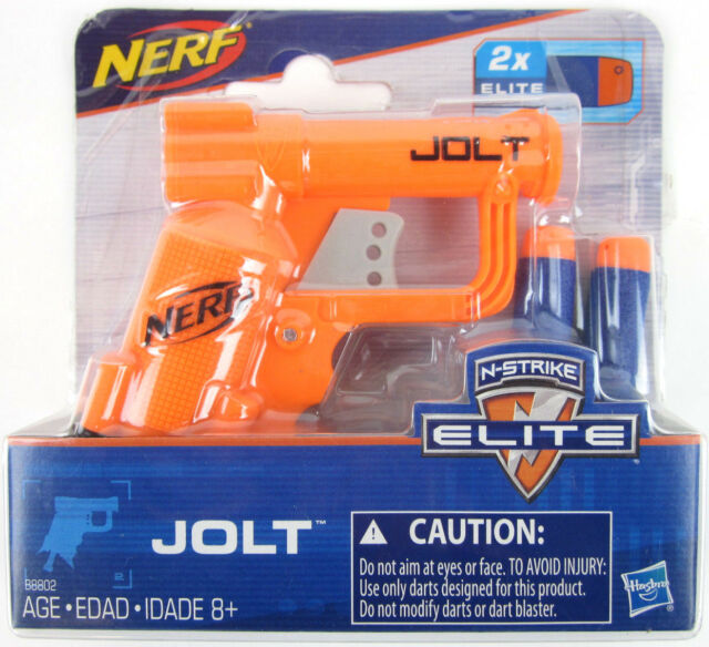NERF Micro JOLT ORANGE Pistol N-Strike Elite Series mini Blaster gun 2  Darts NEW
