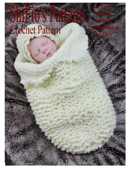 Crochet Pattern For Baby Cocoon Papoose Hat 127 Not Clothes Ebay