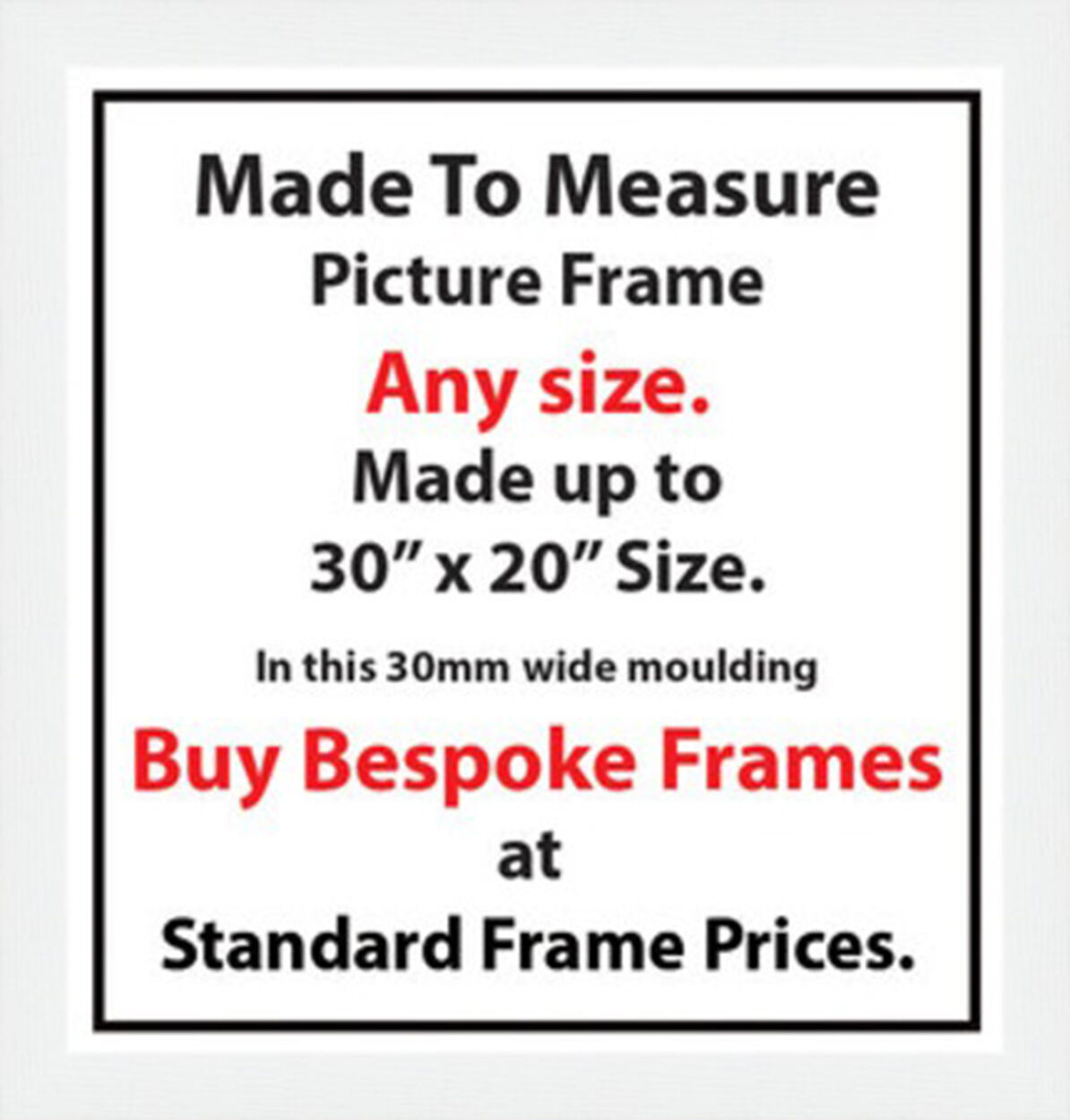 Made to Measure Bespoke Picture Artwork Photo Frames | 30mm Wide ...