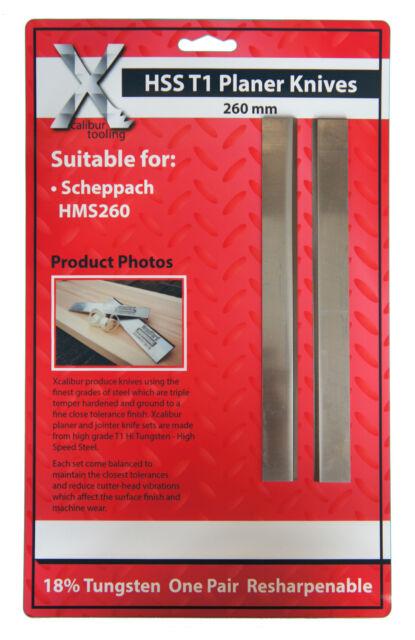 Hobelmesser für Scheppach 260 x 18 x 3 HSS 18% Wolfram 2 Stück