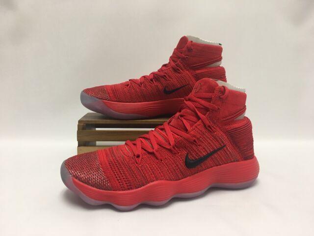 Nike Hyperdunk 2017 Flyknit Basketball Shoes Red Silver 917726-600 Men's NEW