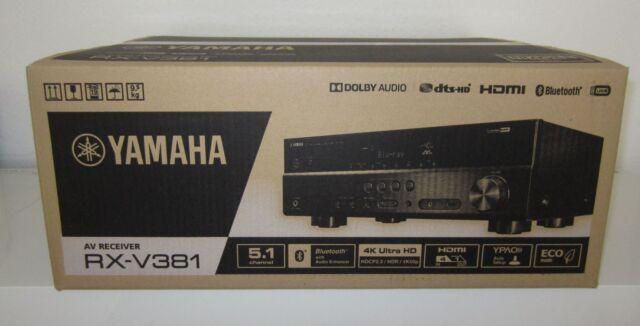 YAMAHA RX-V381 5.1 AV-Receiver Schwarz, 5x100 W, Bluetooth, 4x HDMI, 4K, NEUWARE