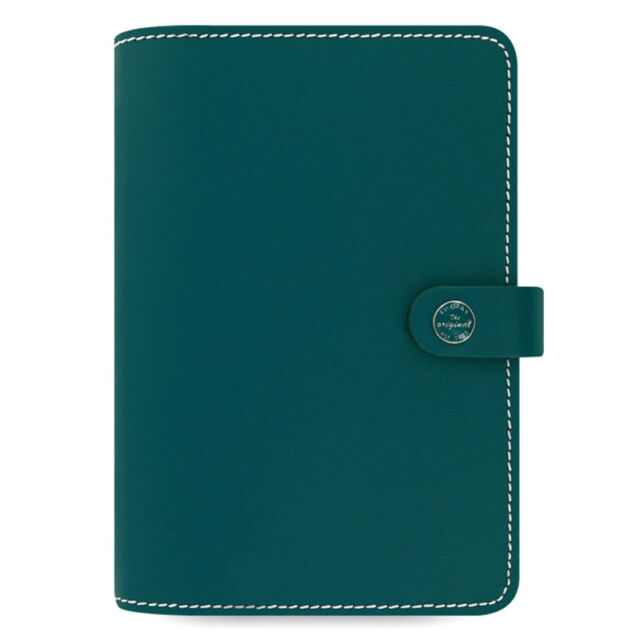 Filofax The Original Personal Organiser Dark Aqua Leather With 12 Month Diary