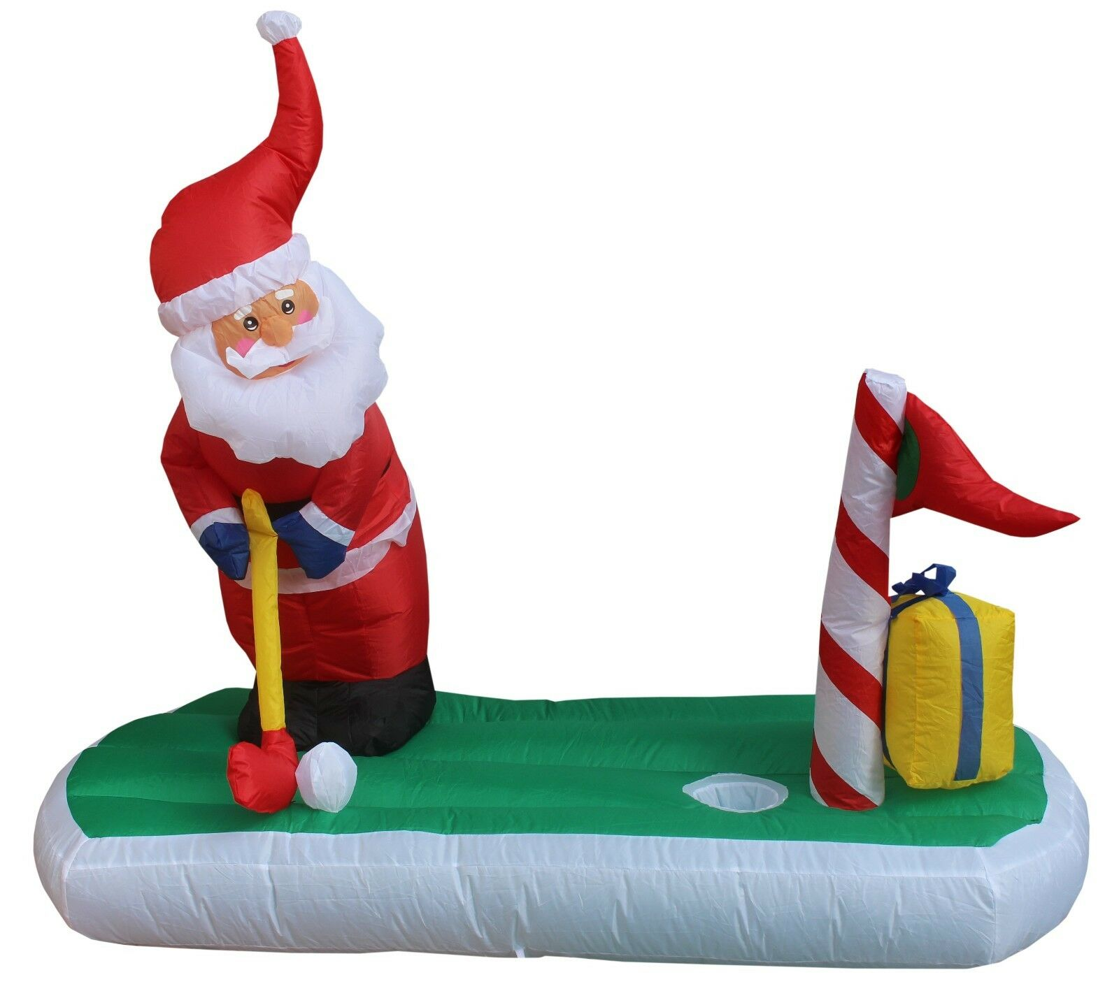 Christmas Inflatable Santa Claus Golf Yard Decoration Outdoor Garden ...