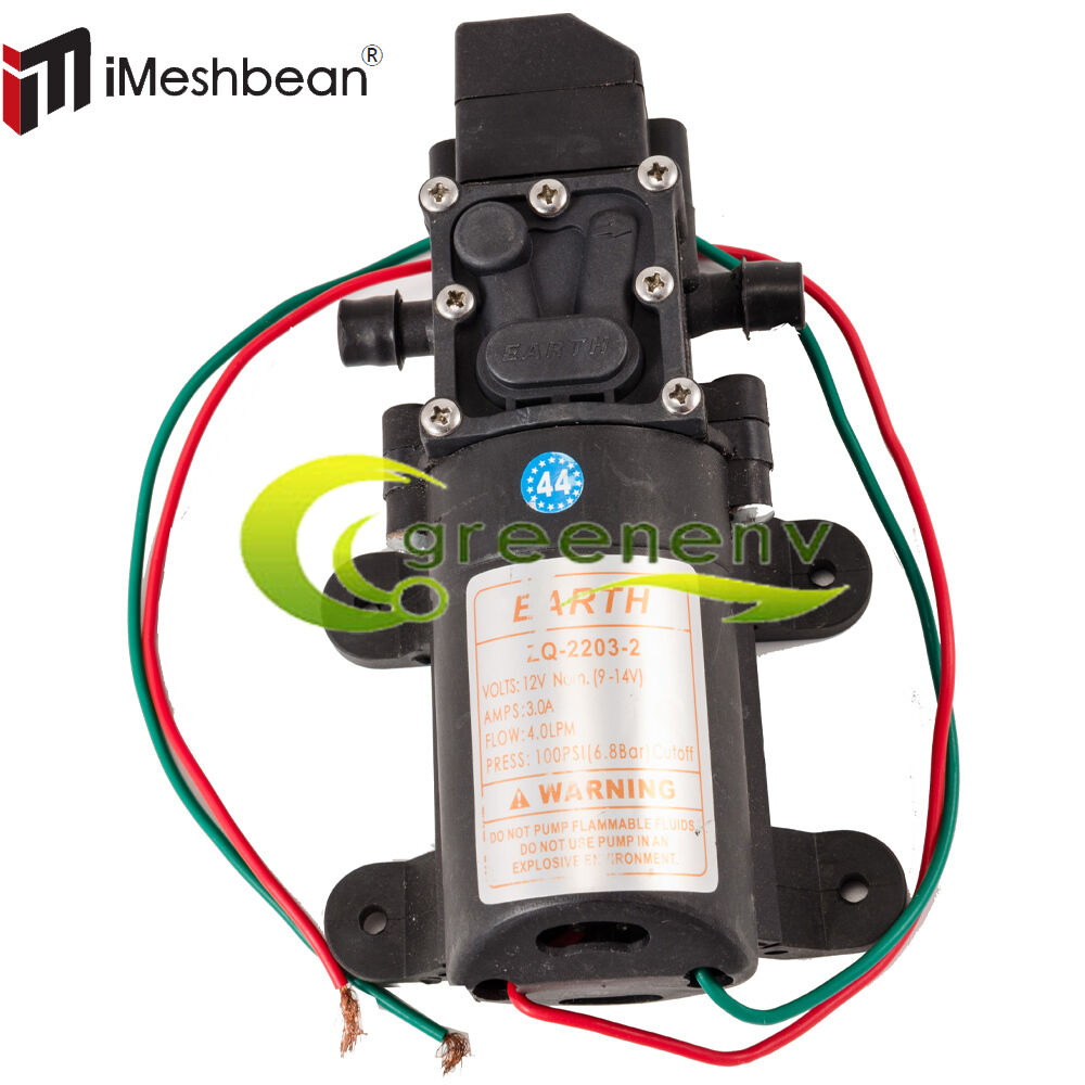 Dc 12v 100psi 4lmin diaphragm water self priming pump high pressure picture 1 of 3 ccuart Images