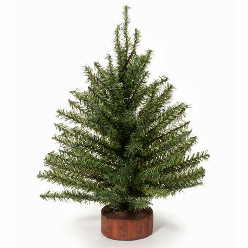 Miniature Artificial Christmas Trees: 12 Inch Green Artificial Pine Christmas Tree With Wood
