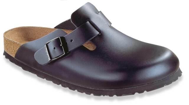 Birkenstock BOSTON PELLE NERA 060193 tg 42 Glogs Sandali Pantofole