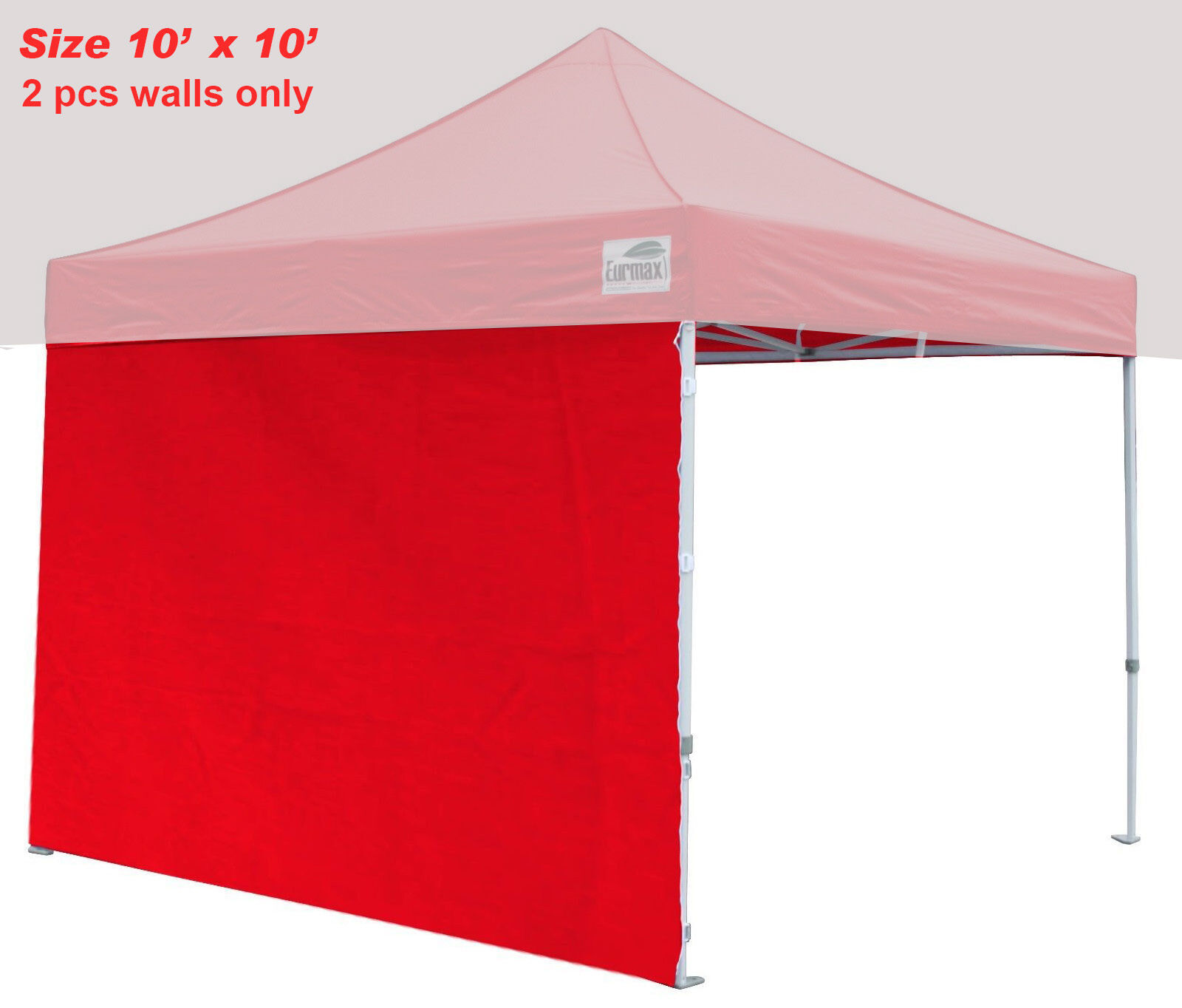 Picture 6 of 6  sc 1 st  eBay & 2pcs 10ft Side ZIPPER Walls End Panels for EZ Pop up Canopy Fair ...