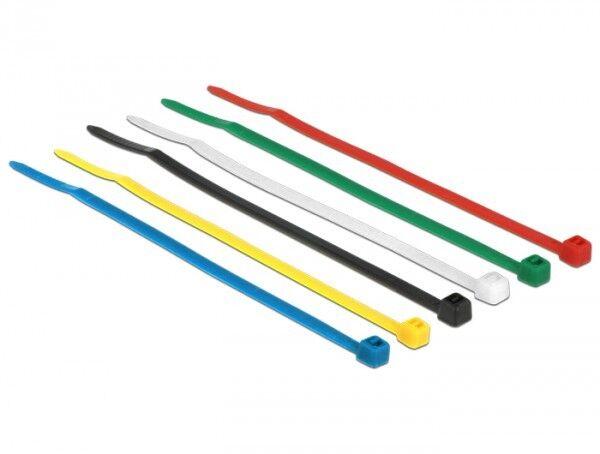 100 stück delock nylon kabelbinder farbig bunt l 100mm x b 2,5mm