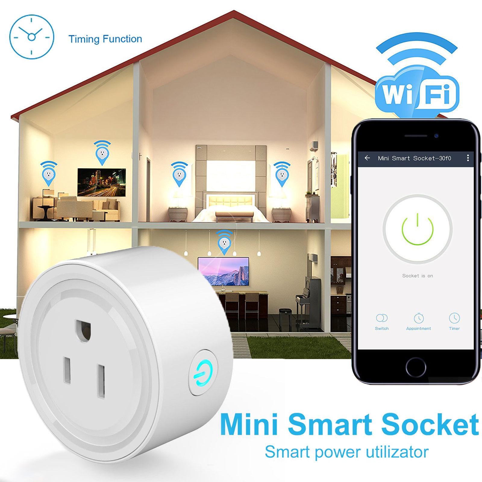 Home WiFi Wireless US Plug Remote Control Smart Power Socket Timer ...